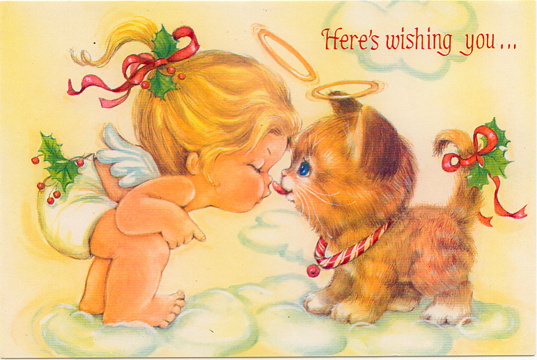 CUTE ANGELS AND KITTENS CHRISTMAS CARDS Marges8s Blog
