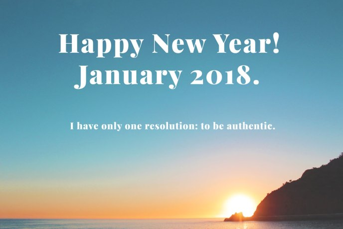 A New Year's Message