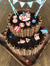 MJ Birthday Cake Piggies