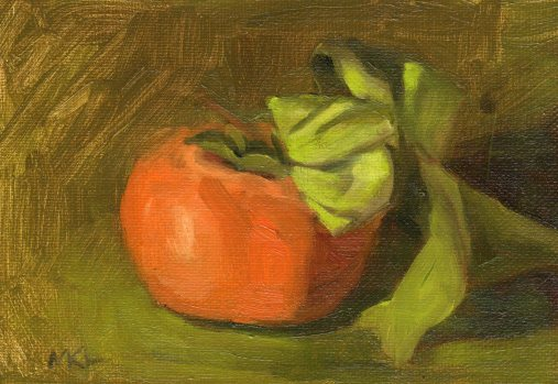 103114 Pomegranate with Leaves II 7x5 oil