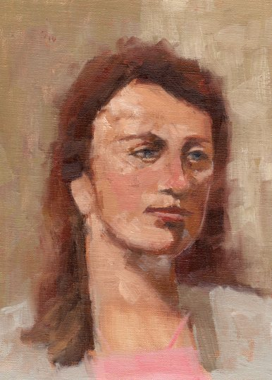 Painting of Morgan, 8 x 10 inches, oil on linen