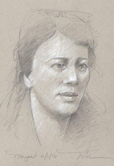 Drawing of Morgan, 5 1/2 x 8 1/2 inches