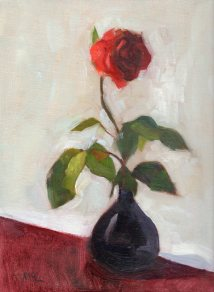 Rose, 12 x 9 inches oil on canvas panel Available for purchase at https://www.etsy.com/listing/499845924/rose-original-oil-painting-of-a-rose?ref=shop_home_active_1