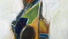 "on sure ground 60"" x 36"" oil on canvas $3200 by Marlene Lowden"