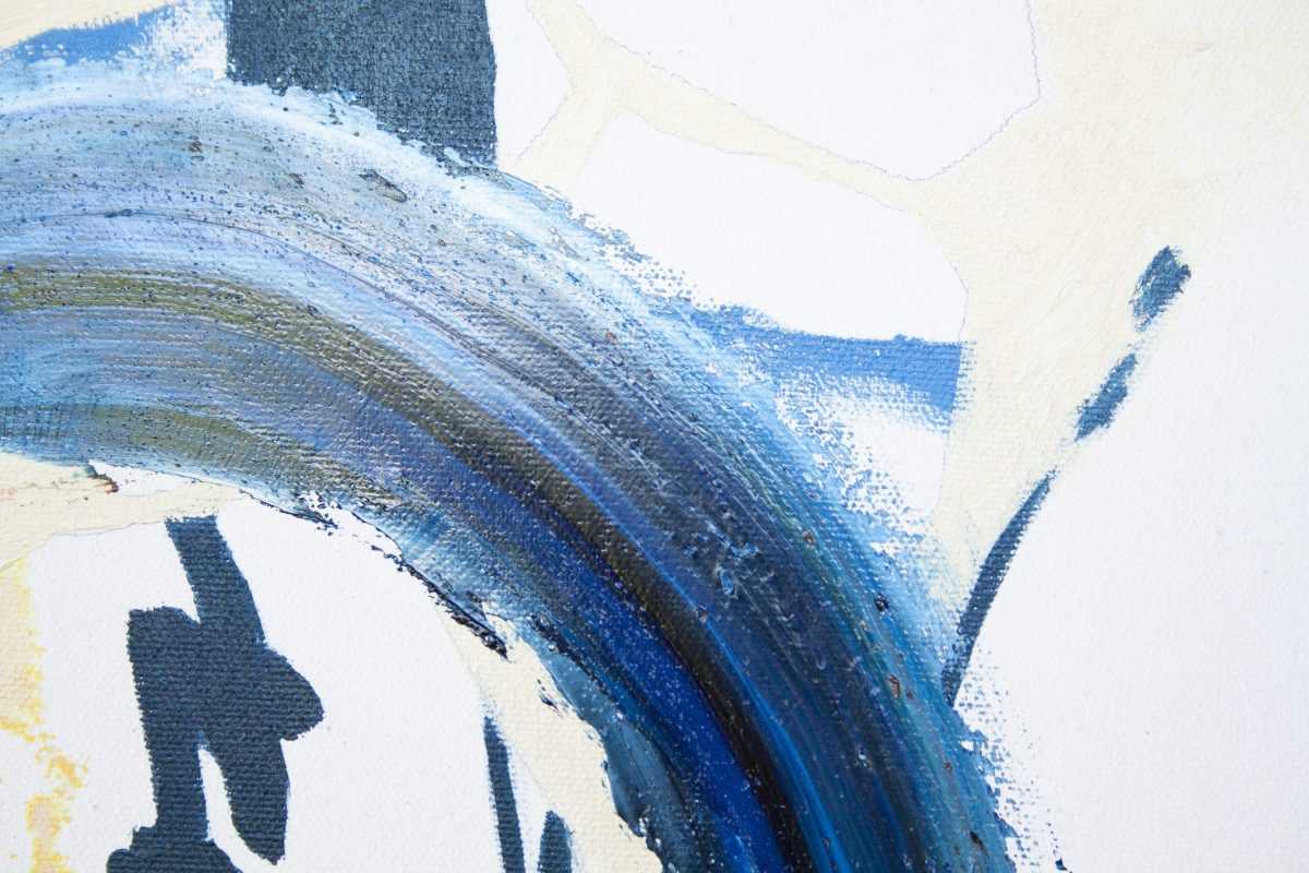 "detail of work ""blue painted poems"" by marlene lowden"