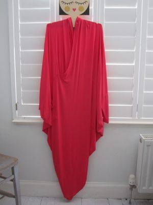 Long Pink Jersey Tulip Dress