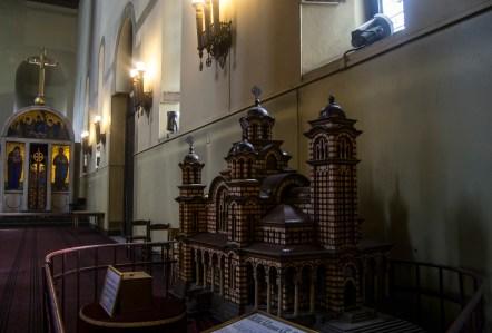 Maqueta da igreja de São Marcos.