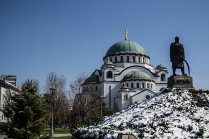 Templo de St. Sava. O nome é em memória do primeiro Arcebispo da Sérvia. A construção começou em 1936.