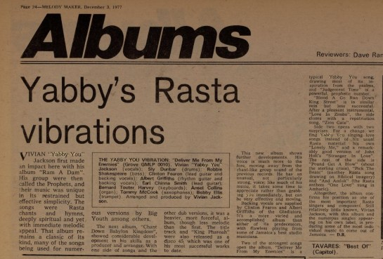 D R. Melody Maker (Dec 3, 1977)yabby%2Cyou-crop
