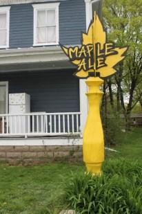Maple Ale tap statue.