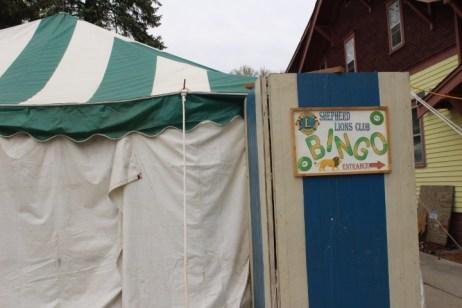 Lions Club bingo tent.
