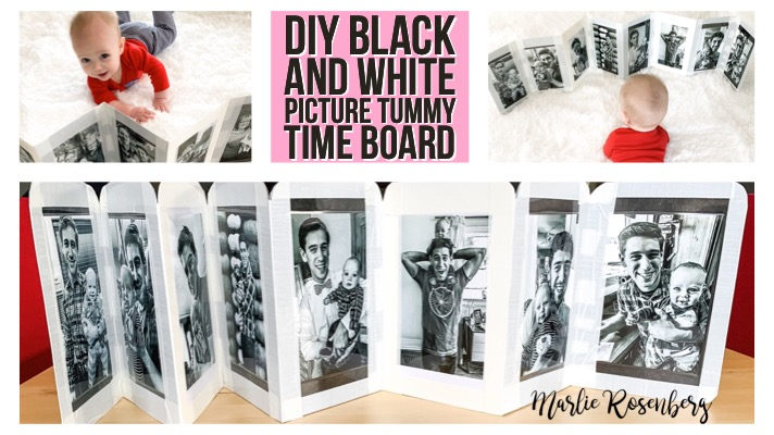 DIY Black and White Tummy Time Board