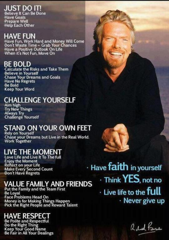 Richard Branson Infographic