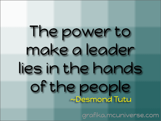 the power to make a leader