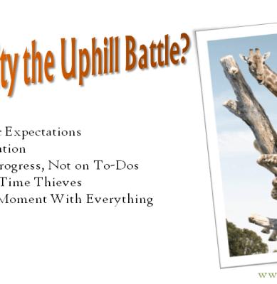 Productivity the Uphill Battle?