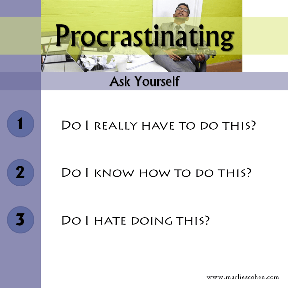 procrastinating - why?