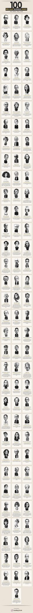 100 brilliant business minds infographic