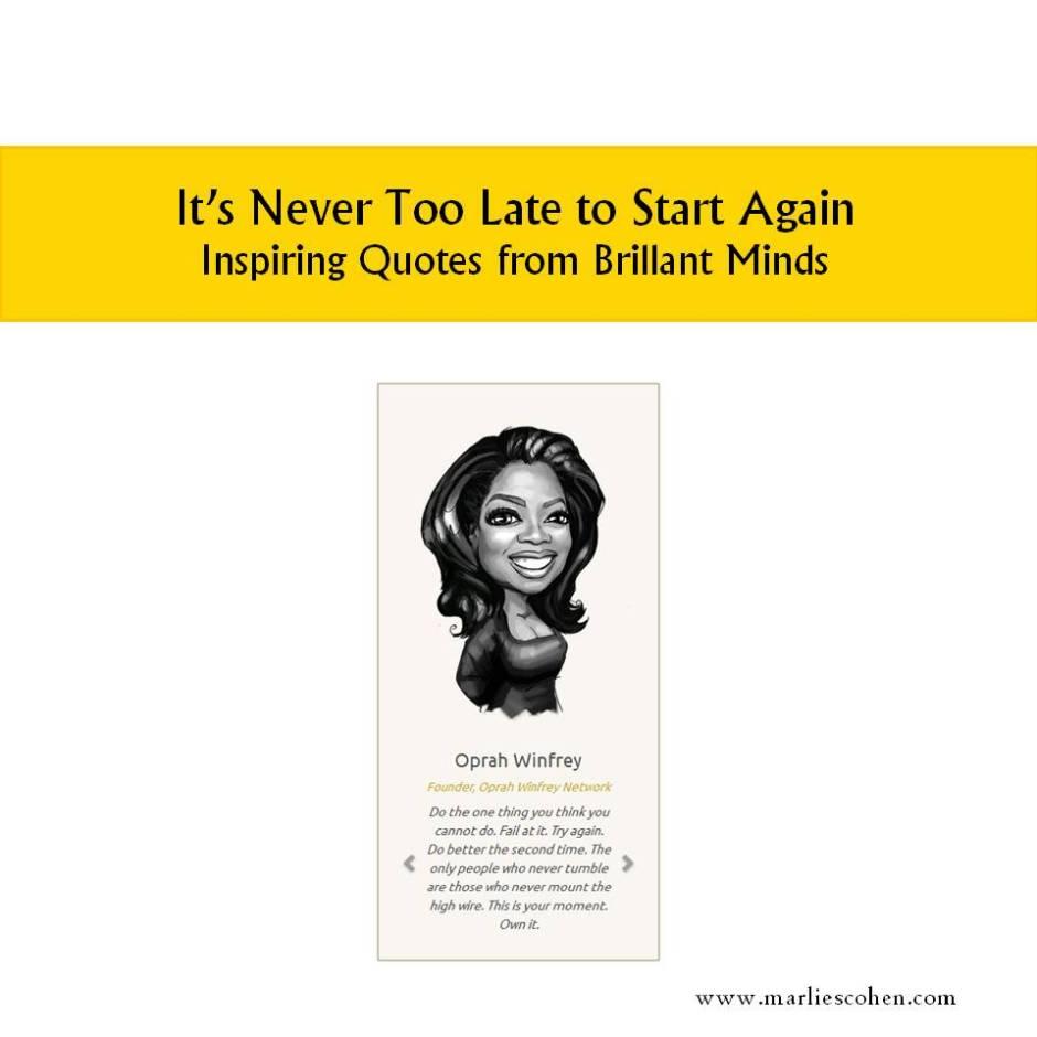start again - inspiring quotes