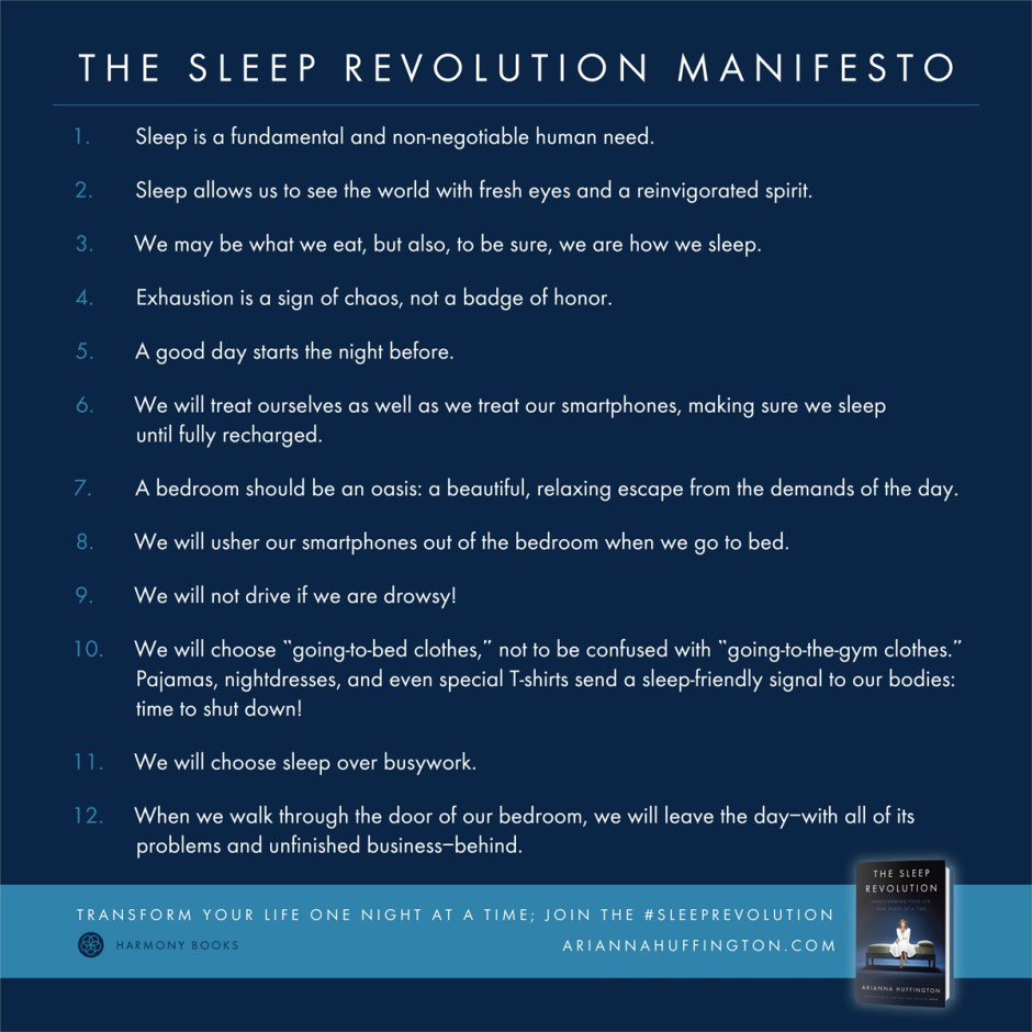 Sleep Revolution Manifesto