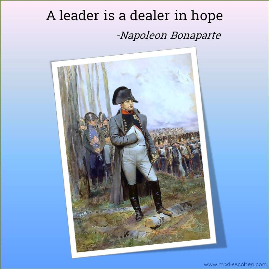 leader quote by Napoleon