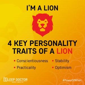 chronotype lion