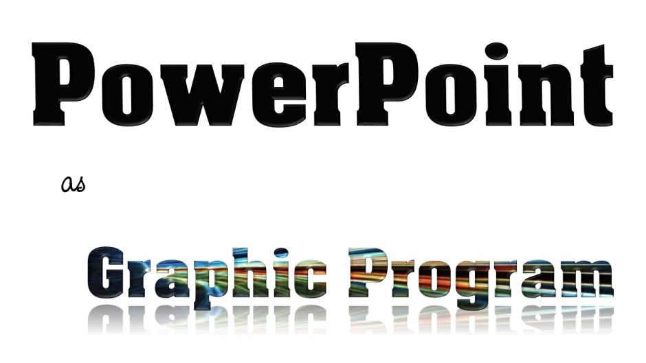 powerpoint as graphic program