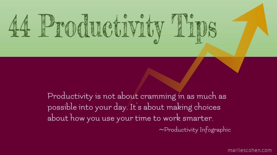 44 productivity tips