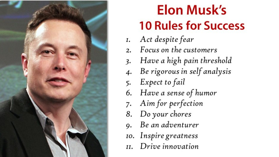 Elon Musk's 10 rules for success volume 2
