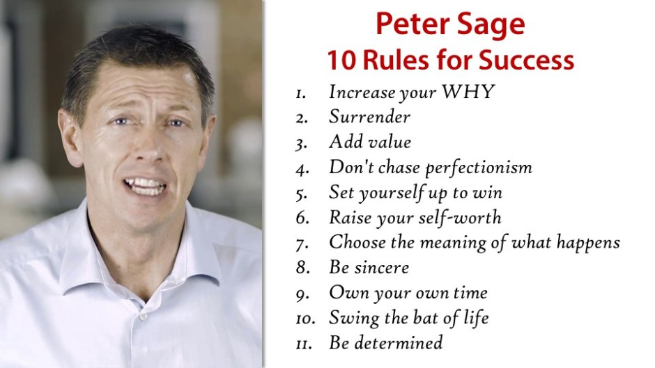 Peter Sage 10 Rules of Success