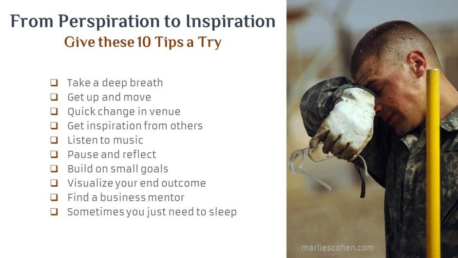 How to go from perspiration to inspiration