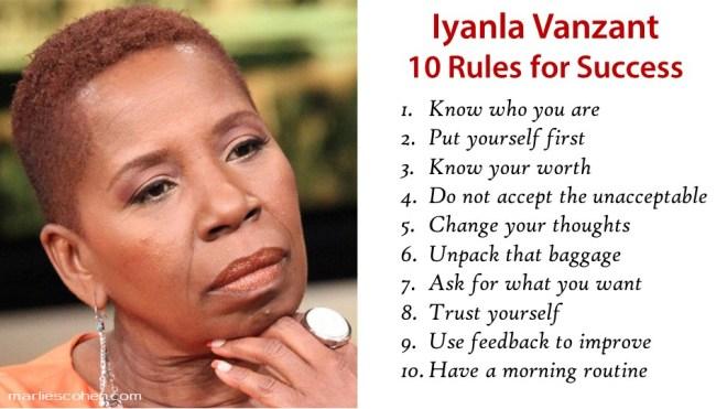 Iyanla Vanzant top 10 rules for success