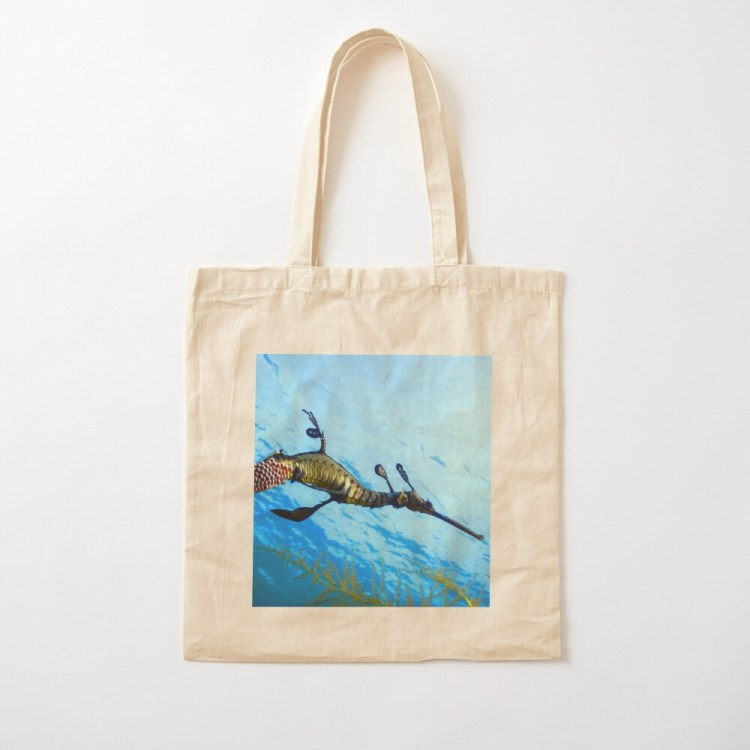Lightweight Cotton Tote Shopping Bag Weedy Seadragon