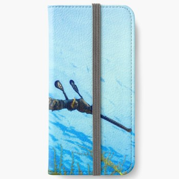 iphone protective wallet card case weedy seadragon print