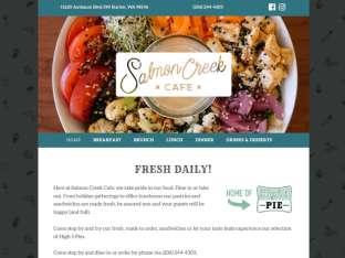 screenshot Salmon Creek Cafe website