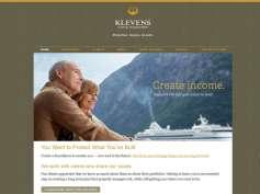 screenshot Klevens Capital Management website