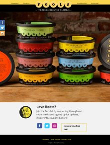 screenshot Roots Hummus