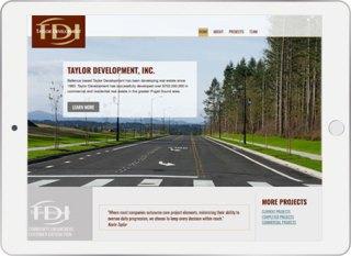 Taylor Development tablet screenshot
