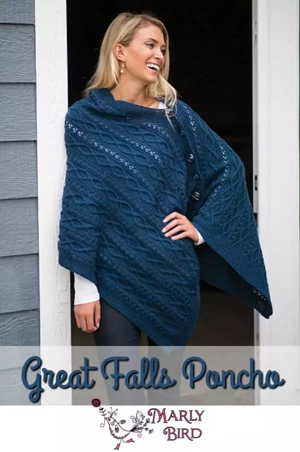 Great Falls Poncho-One Dollar Wednesday with Marly Bird