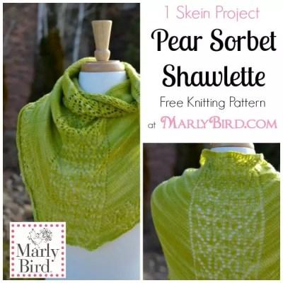 Free Knitting Pattern: Pear Sorbet Shawlette