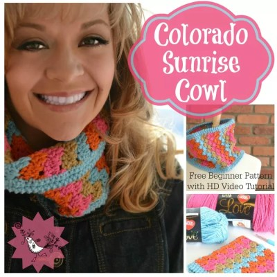 Free Crochet Pattern Colorado Sunrise Cowl