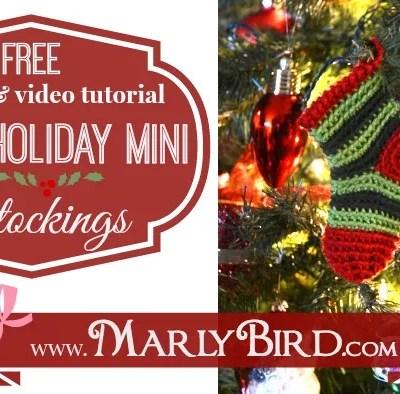 Free Crochet Pattern: Quick Holiday Mini Stocking