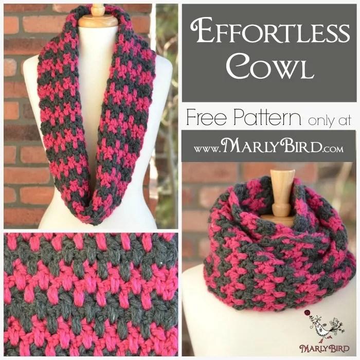 Free Crochet Cowl Pattern Effortless Marly Bird