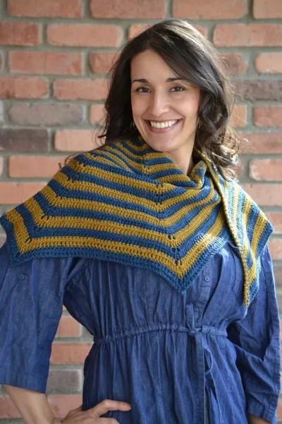 Stellar Stripes Crochet Shawl: Free Pattern by Marly Bird
