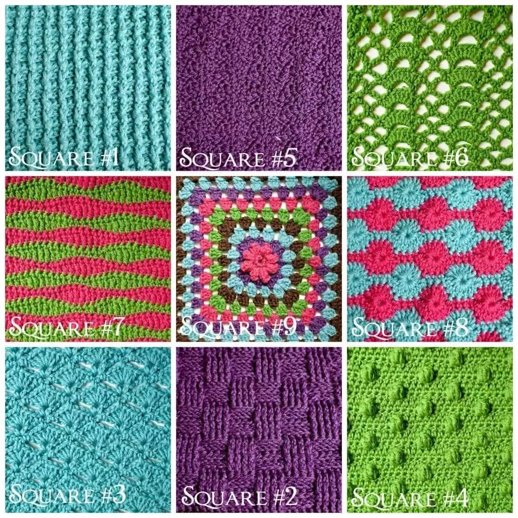 Stitch Sampler Blanket_Layout