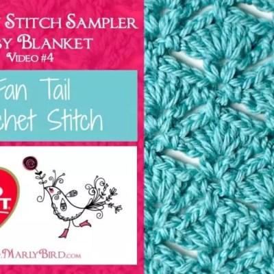 Fan Tail Crochet Stitch