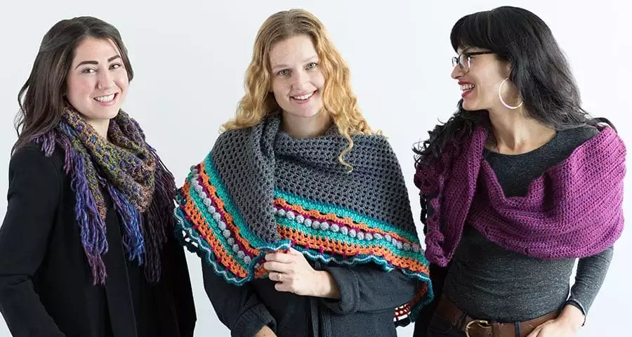 @Creativebuginc Crochet Shawl Workshop with Marly Bird! Only $4.99 a month subscription for over 300+ classes.