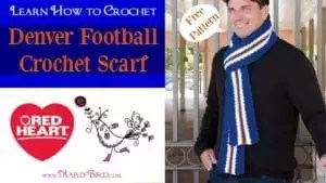 Denver Football Free Crochet Scarf Pattern and Video Tutorial by Marly Bird