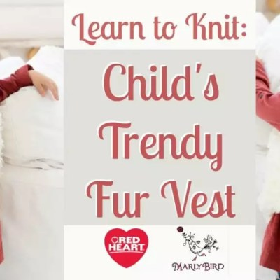 Child's Trendy Fur Vest