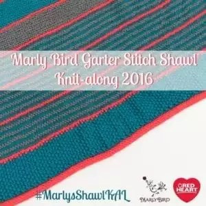 2016 Garter Stitch Shawl Knit-Along with Marly Bird and Red Heart Yarn