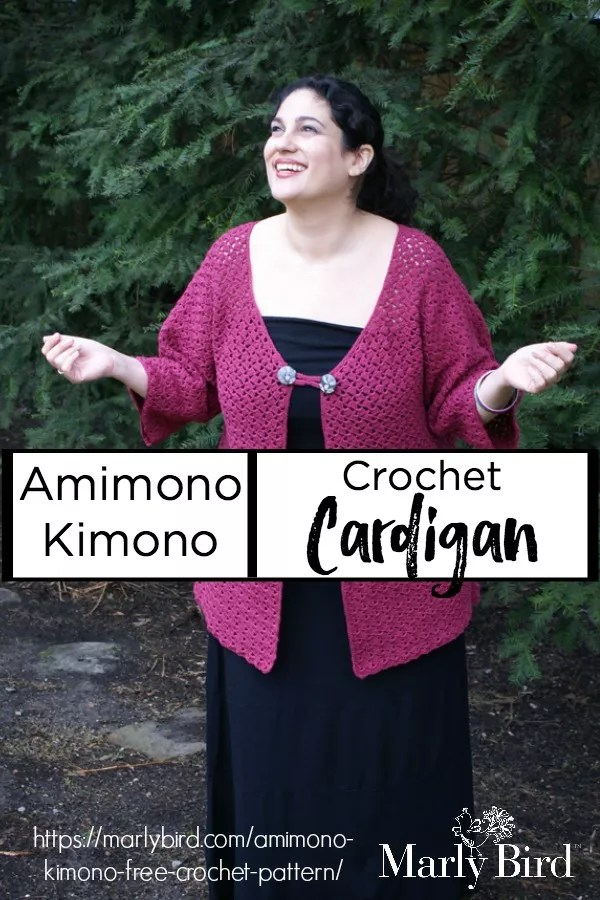 Amimono Kimono Free Crochet Cardigan Sweater Pattern by Marly Bird™